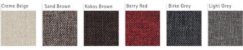 Stoff Farbvarianten für Blendrahmen